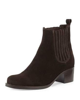 La Canadienne Prince Low-Heel Ankle Boot, Brown $270 thestylecure.com
