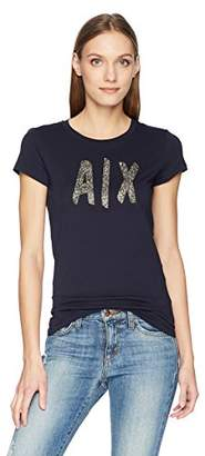 Armani Exchange A|X Women's Glitter Graphic Logo Tee