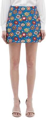 Alice + Olivia 'Riley' floral jacquard skirt