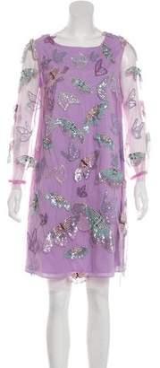 Marchesa Embellished Knee-Length Dress w/ Tags