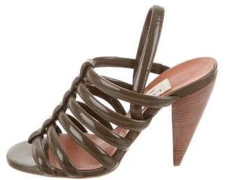 Lanvin Multistrap Slingback Sandals