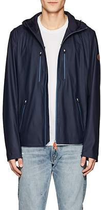 Save The Duck SAVE THE DUCK MEN'S TECH-FABRIC ZIP-FRONT HOODED RAINCOAT