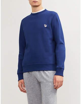 Paul Smith Zebra-embroidered cotton-jersey sweatshirt