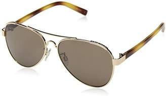 Halston H Womens Women's HH 618 Aviator Fashion Designer UV Protection Sunglasses