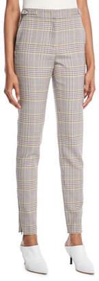 Gabriela Hearst Lisa Skinny Plaid Wool Sportswear Pants