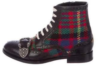 Gucci 2017 Queercore Brogue Boots