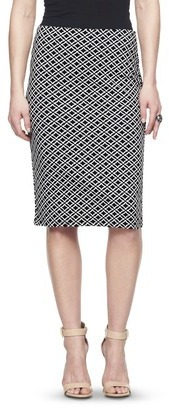 Mossimo Women's Jacquard Pencil Skirt - Black Geo