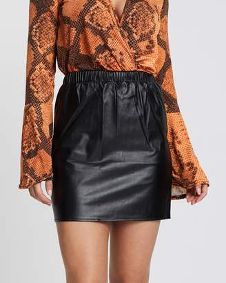 Missguided PU Mini Skirt