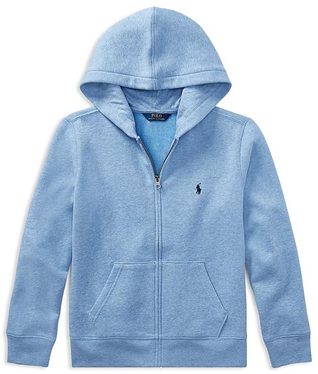 Ralph Lauren Childrenswear Boys' Fleece Zip-Up Hoodie - Big Kid
