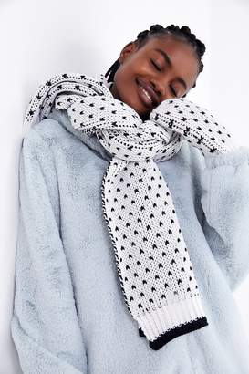 Urban Outfitters Birds Eye Knit Scarf