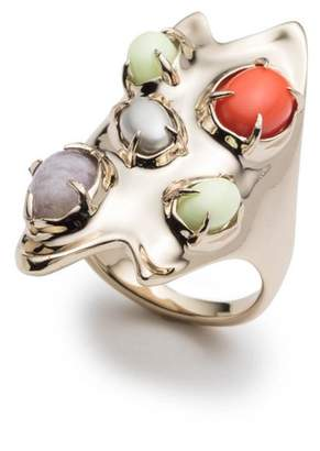 Alexis Bittar Sculptural Stone Cluster Cocktail Ring