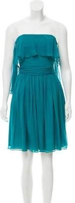 Halston Silk Strapless Dress