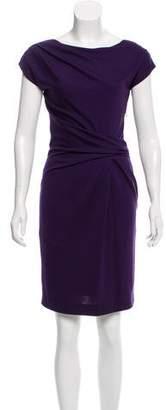 Alberta Ferretti Wool-Blend Sheath Dress