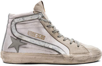 Golden Goose Canvas Slide Sneakers