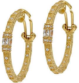 Nobrand NO BRAND Judith Ripka 14K Clad Diamonique Estate StyleHoop Earrings