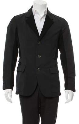 Salvatore Ferragamo Rib Knit-Trimmed Lightweight Jacket