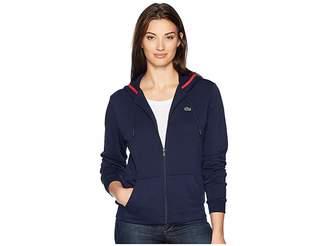 Lacoste Long Sleeve Hooded Fleece Pocket Sweatshirt
