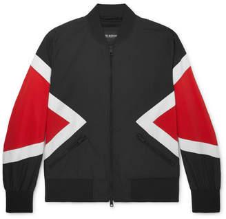 Neil Barrett Colour-Block Cotton-Blend Bomber Jacket