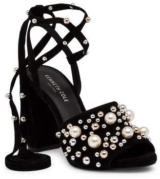 Kenneth Cole New York Dierdre Embellished Bead Wraparound Sandal