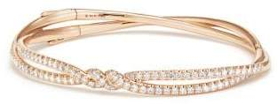 David Yurman Continuance Pave Bracelet With Diamonds In 18K Rose Gold