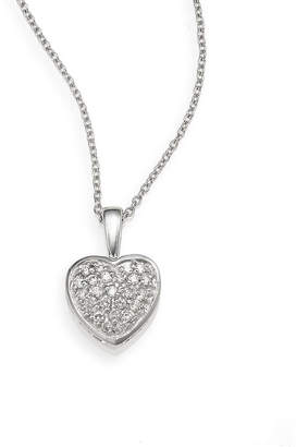 Effy Fine Jewelry 14K 0.18 Ct. Tw. Diamond Heart Necklace