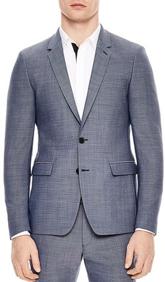Sandro Notch Pinpoint Slim Fit Suit Separate $775 thestylecure.com
