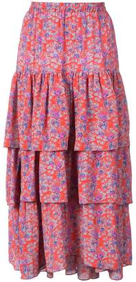 Figue Frida tiered floral skirt