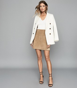 Reiss ALEIDA DOUBLE BREASTED BLAZER Off White