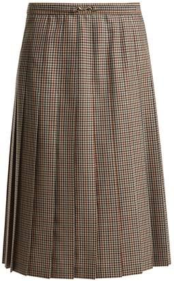 Maison Margiela Tweed knee-length pleated skirt