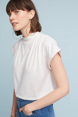 Anthropologie Mock Neck Cropped Tee $48 thestylecure.com