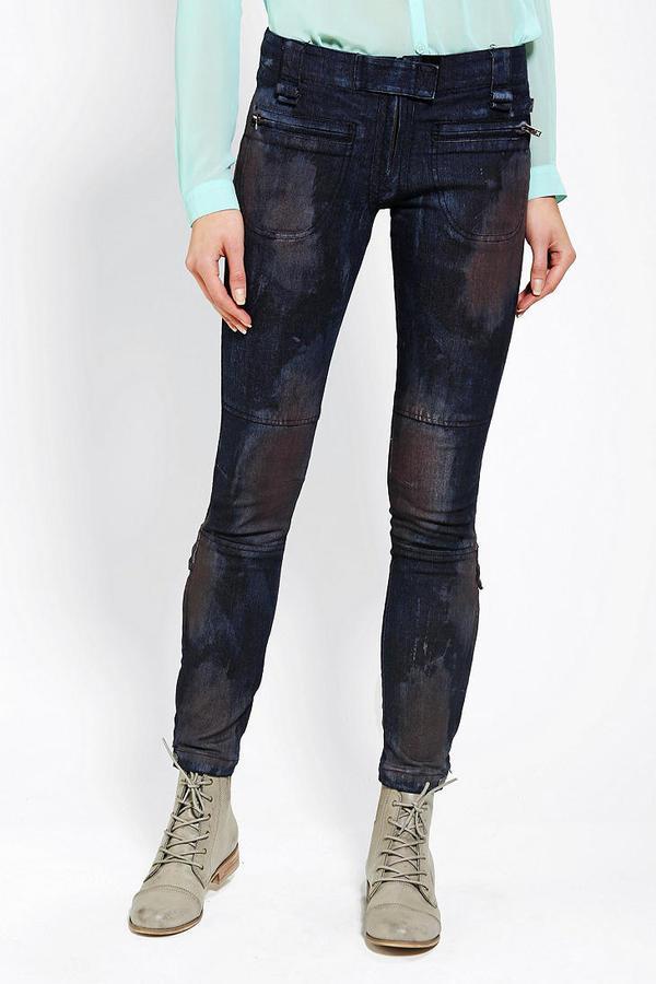 Tripp NYC Dye Effect Skinny Ankle Zip Jean