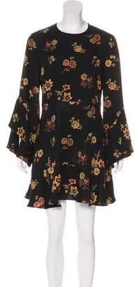 A.L.C. Silk Floral Print Dress