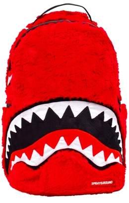 SPRAYGROUND Faux Fur Monster Shark Backpack
