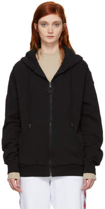 Off-White Black Patch Zipped Hoodie