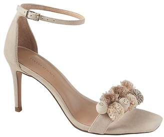 Banana Republic Pom Pom Bare High Heel Sandal
