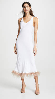 Sleeper White Viscose Slip Dress