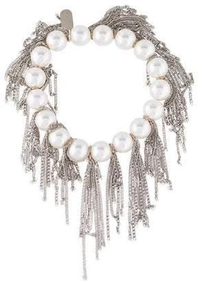 Lisa Freede Faux Pearl Fringe Bracelet