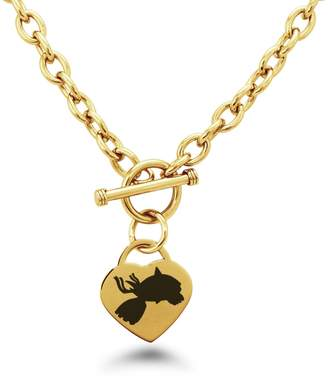 Pokemon Tioneer Gold Plated Stainless Steel 3rd Gen Kyogre Heart Charm, Necklace Only