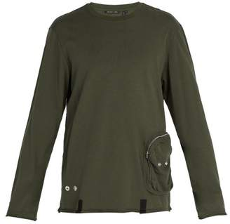 Helmut Lang Distressed Utility Crew Neck Top - Mens - Khaki