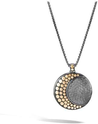John Hardy Moon Phase Hammered Pendant Necklace