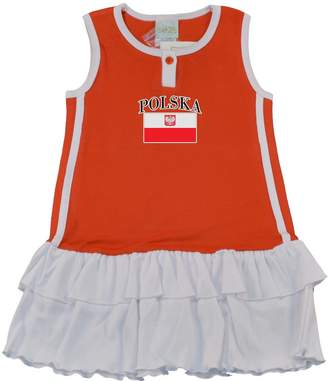 PAM Little Girls Poland soccer cotton Dress