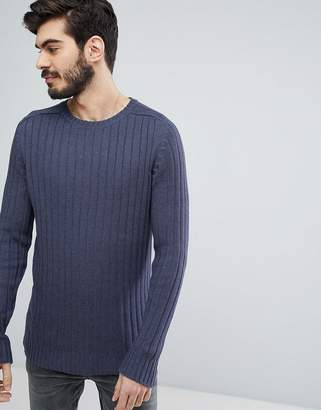 Brave Soul Wide Rib Crew Neck Sweater