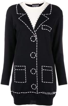 Moschino jacquard knit short dress