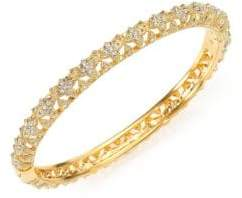 Adriana Orsini Pave Crystal Flower Bangle Bracelet