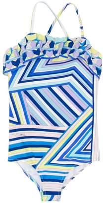Emilio Pucci Junior geometric swimsuit