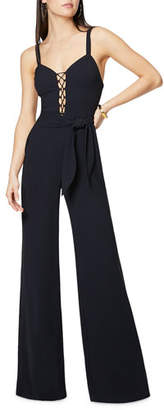 Ramy Brook Whitley Lace-Up Sleeveless Wide-Leg Jumpsuit