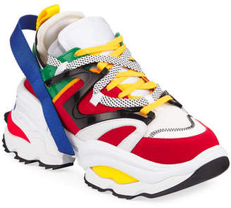 DSQUARED2 Men's Giant Colorblock Lace-Up Sneakers