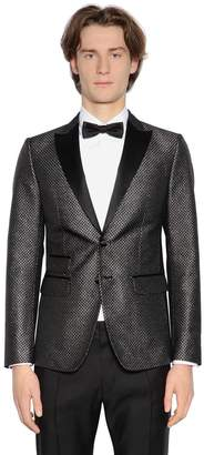 DSQUARED2 London Lurex Jacquard Tuxedo Jacket