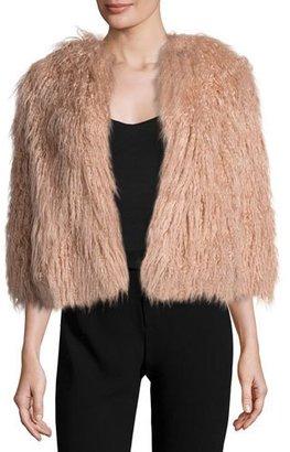 Theory Elstana 2 Cody Faux-Fur Coat $455 thestylecure.com