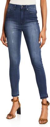 Rachel Roy Easton Skinny Jeans with One Studded Leg